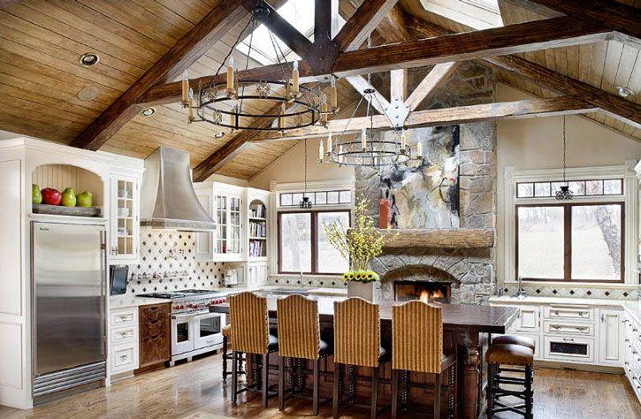 exposed beam ceilingkitchen  design ideas  pinterest