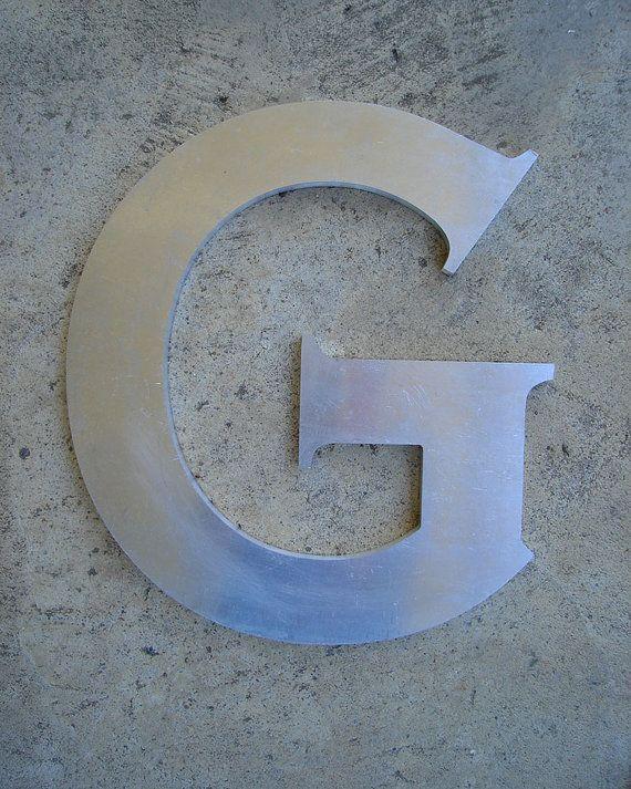 Letter G uppercase G  Metal Type Decorative Art  by jackscloset
