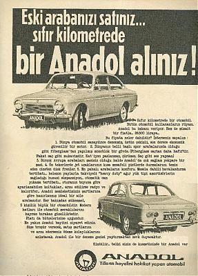 Anadol Reklamı - Ad -  Eski arabanızı satınız... sıfır kilometrede bir Anadol alınız! -Please sell your old car... buy a brand new Anadol :)