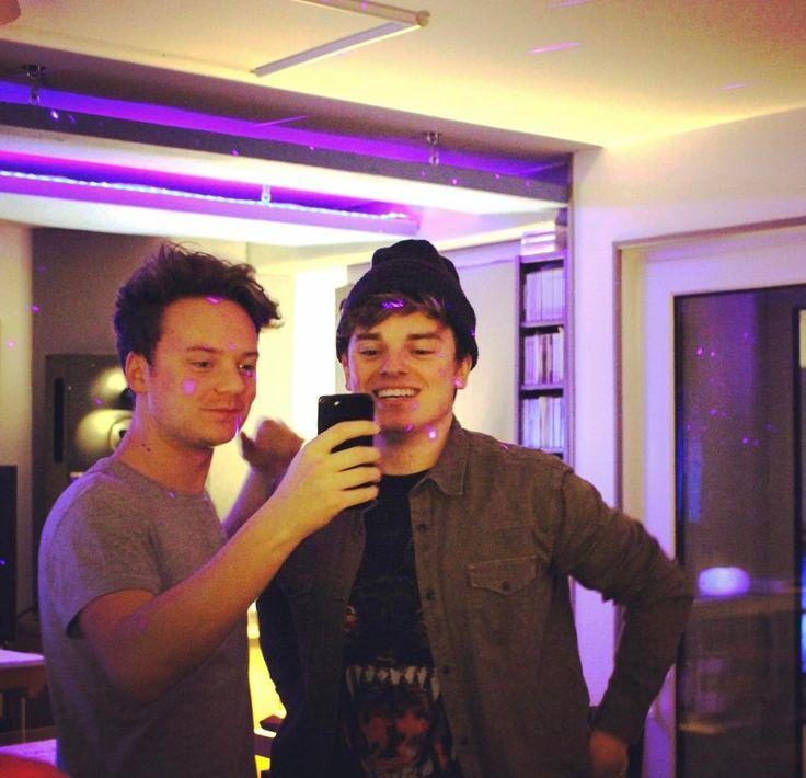 Conor and Jack Maynard filming at Price Studios