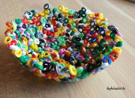 bol en perles hama fondues, id�e d'activit�s avec les enfants