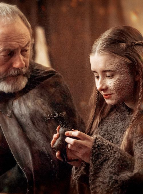 "stormbornvalkyrie: Davos & Shireen | Game of Thrones 5.09 ""The Dance of Dragons"" {x}"