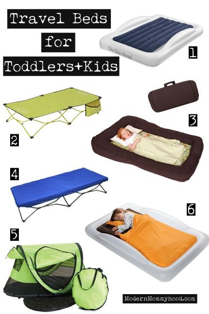 Travel Beds for Toddlers and Kids - 6 options + different price points.  ModernMommyhood.com
