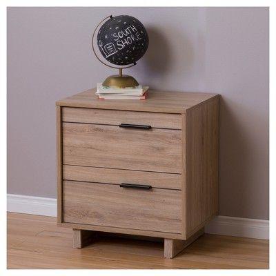 Fynn 2 - Drawer Nightstand - Rustic Oak (Brown) - South Shore