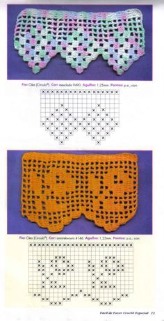 Luci Artes: Barrados em Crochê com Gráficos…