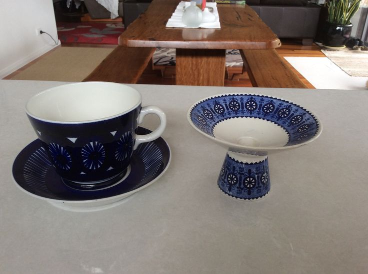 Vintage Arabia Candle Holder and large cup and saucer
