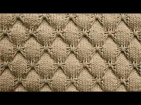 Cómo Tejer FLORES - How to Knit FLOWERS - 2 agujas (448) - YouTube