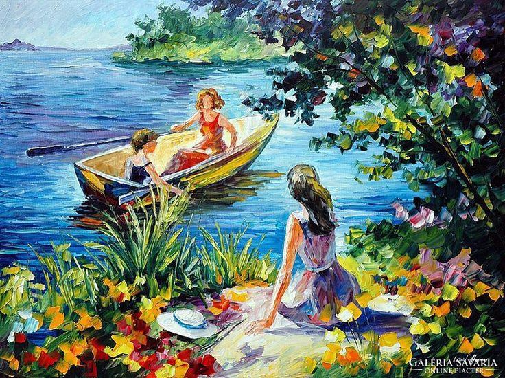 Leonid Afremov: On the lake