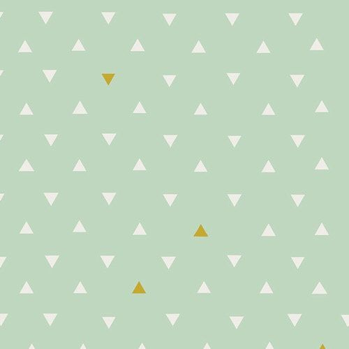 Crib Sheet - Triangle Tolkeins - Metallic Gold and Mint - Southwestern Baby Bedding - Toddler Bedding -