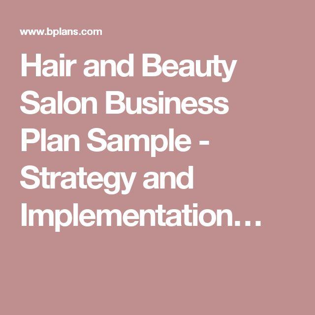 Best 25+ Salon business plan ideas on Pinterest