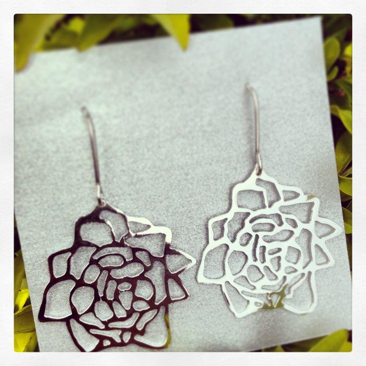 Rosas caladas plata 950