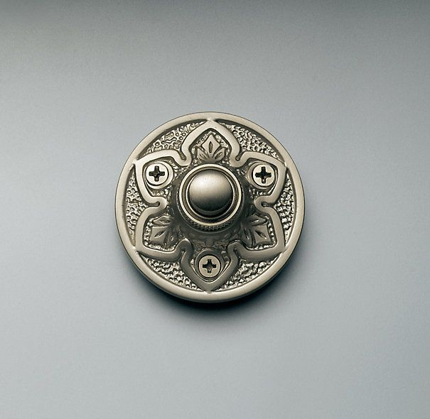 Round Embossed Doorbell from Restoration Hardware as seen in #ThisOldHouse magazine