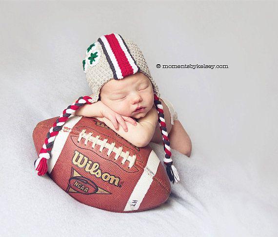 Ohio State Baby OSU Buckeye Helmet Hat Ohio by TinyLittleMemories