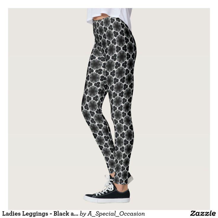 Ladies Leggings - Black and White Design