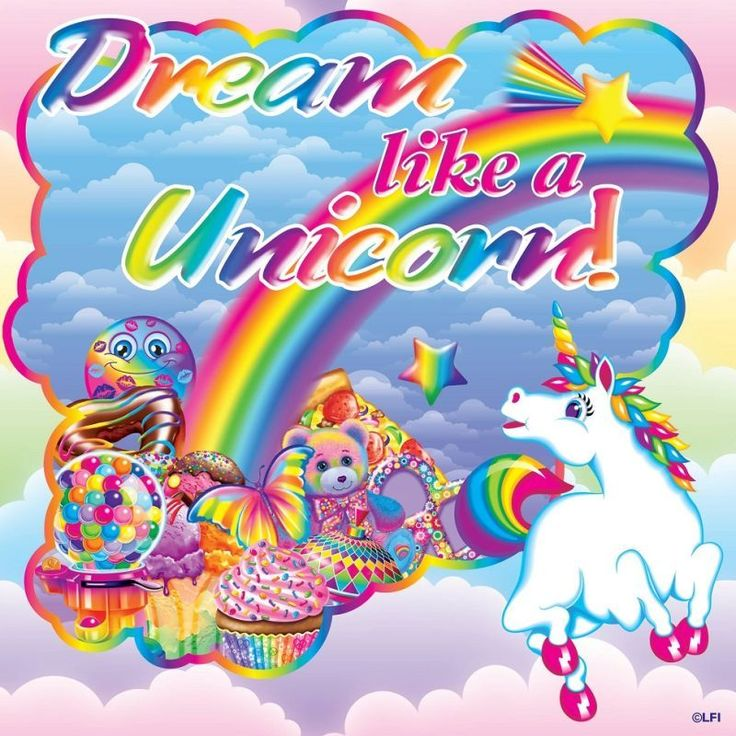 dream like a unicorn lisa frank - Lisa Frank Coloring Pages Unicorn