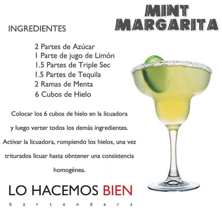 Mint Margarita - Festejá con Estilo     Como preparar un Mint Margarita de                                                                    LO HACEMOS BIEN bartenders  - How to prepare a Mint Margarita - Party with style!