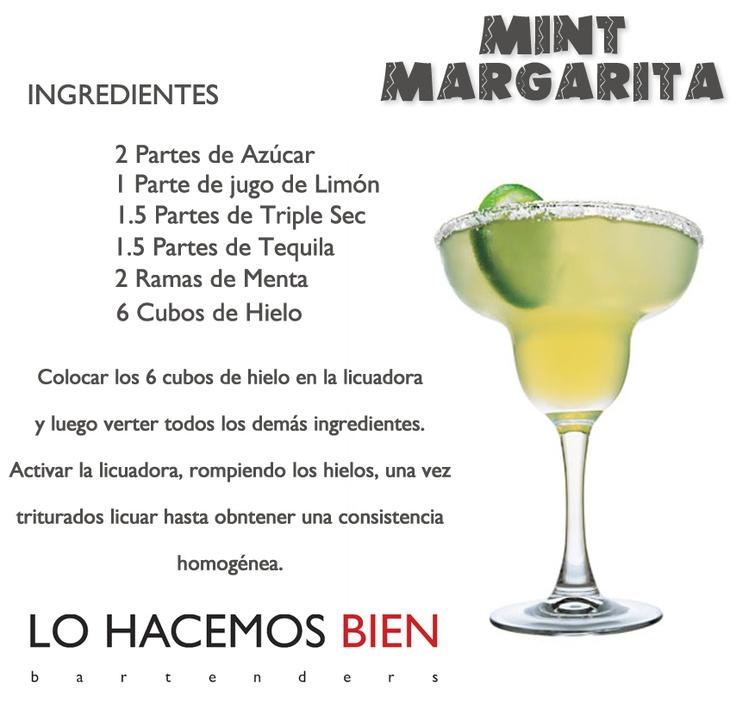 Mint Margarita - Festejá con Estilo     Como preparar un Mint Margarita de                                                                    LO HACEMOS BIEN bartenders  www.lohacemosbien...