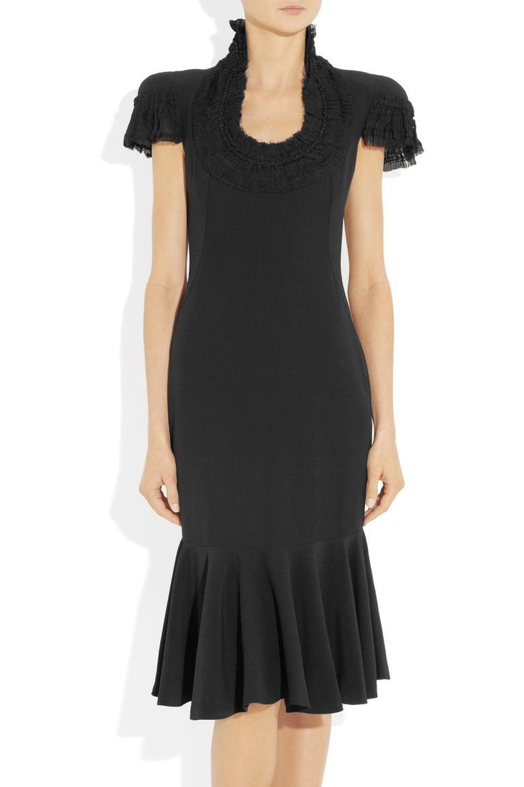 Alexander McQueen|Embellished crepe dress|NET-A-PORTER.COM