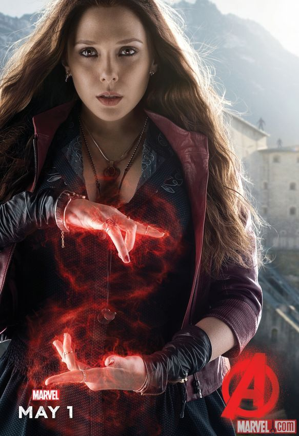 The mysterious Scarlet Witch in a new Marvel's Avengers: Age of Ultron Poster