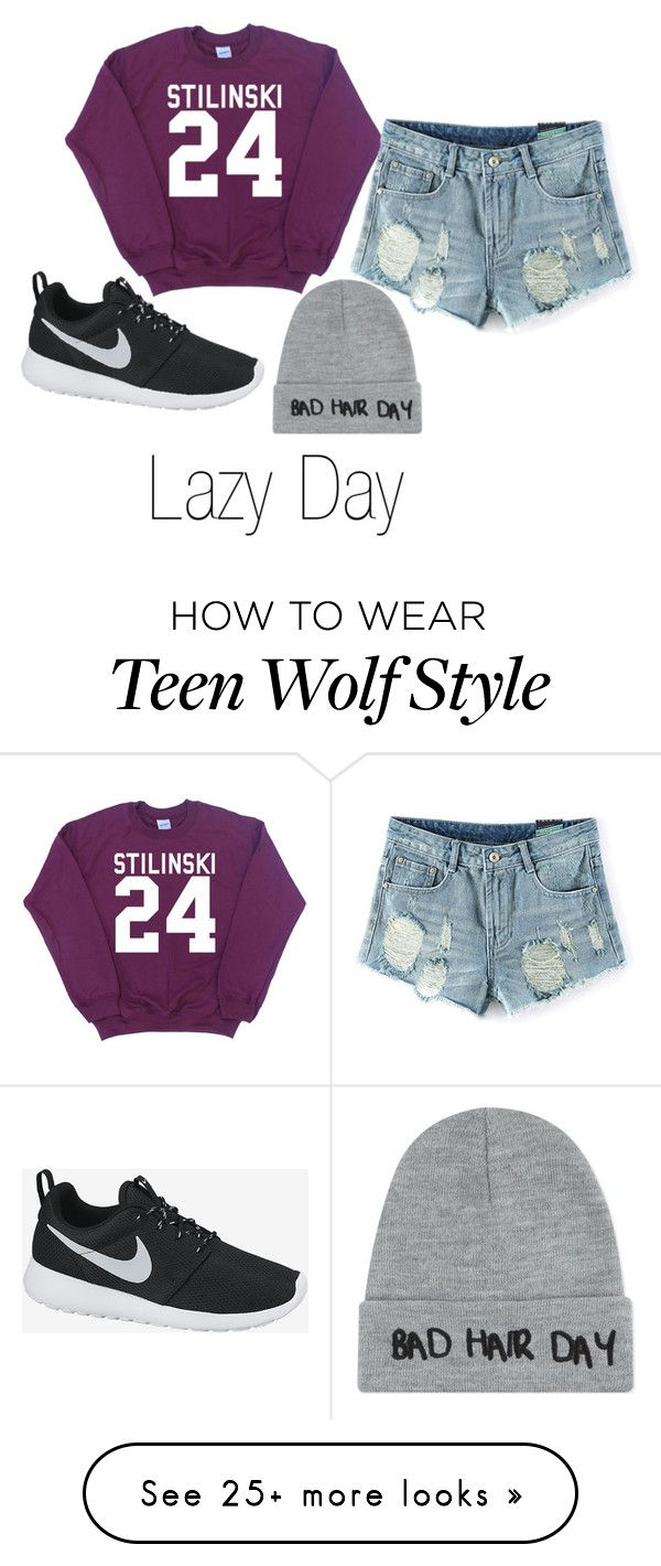 """""""Lazy Day"""" by caitiebrid on Polyvore featuring NIKE and Local Heroes"""
