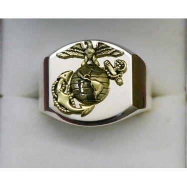 18K Gold Marine Corps Rings