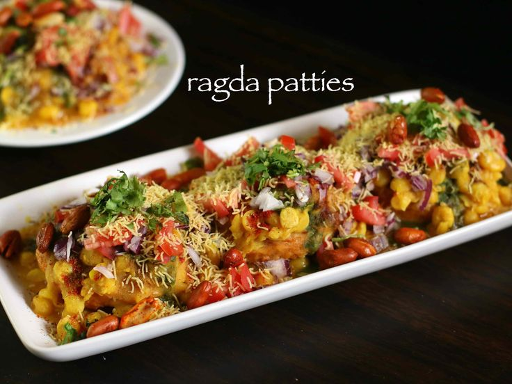 ragda patties recipe, ragda pattice recipe, ragada recipe with step by step photo/video. popular street food of india or chaat recipes served as fast food.