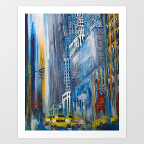 New York traffic jam, www.artoutloop.com #oil, #city, #art, #newyork, #stree, #cars, #taxi, #paintings, #traffic_jam
