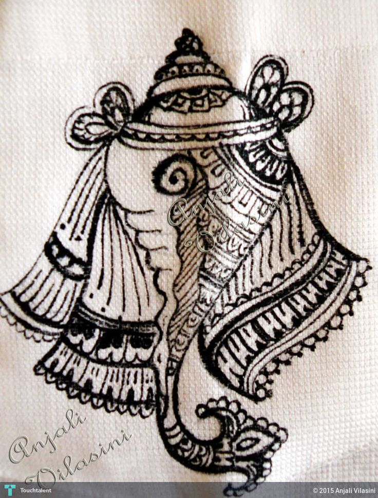 Shankh - Conch Shell FAbric Painting in Painting by Anjali Vilasini