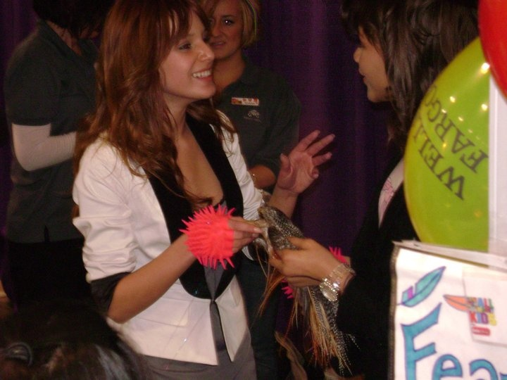 """The stars from Disney's """"Shake It Up"""" wearing Putting Edge Spiky Gloves! Only at the Colorado Convention Center on March 9, 2011"""