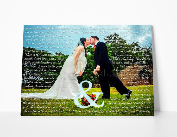 A personal favorite from my Etsy shop https://www.etsy.com/listing/161119001/wedding-song-lyrics-photo-canvas-print