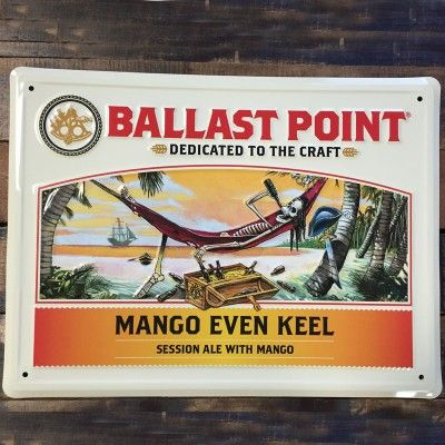 Mango Even Keel Tin Sign – Ballast Point Brewing Co. Online Store