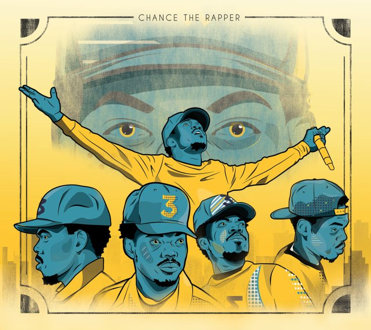 """Excited to share the latest addition to my #etsy shop: Chance The Rapper """"Dream Come True""""-Hip Hop Poster-Rap Music-Digital Art-Acid Rap-Chance Coloring Book-Rap poster-Chance 3-Vector Art-Gift http://etsy.me/2C33KNi #art #drawing #yellow #blue #chancetherapper #hiphop"""
