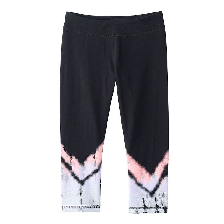 Girls 7-16 & Plus Size SO® Leg Graphic Capri Yoga Pants, Girl's, Size: 14 1/2, Lt Purple