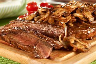 New York Style Steak with Mushroom Saute Recipe - Kraft Recipes