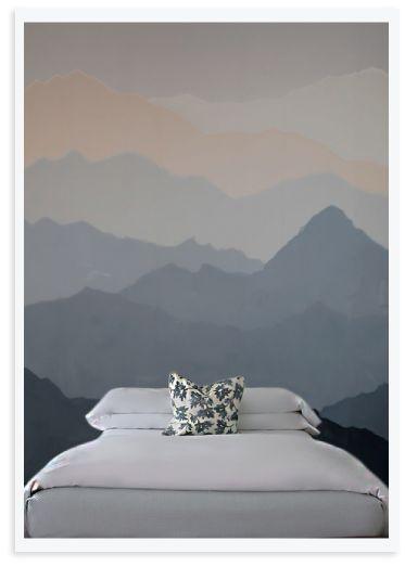 Create an easy DIY Mountain Mural + tips on getting organized. #SienteGlade #ad