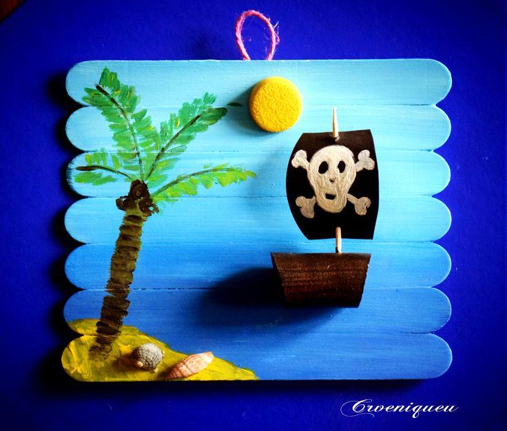Kalóz, kalózhajó, spatula, iskola, school, tongue-spatula, pirate ship, pirate