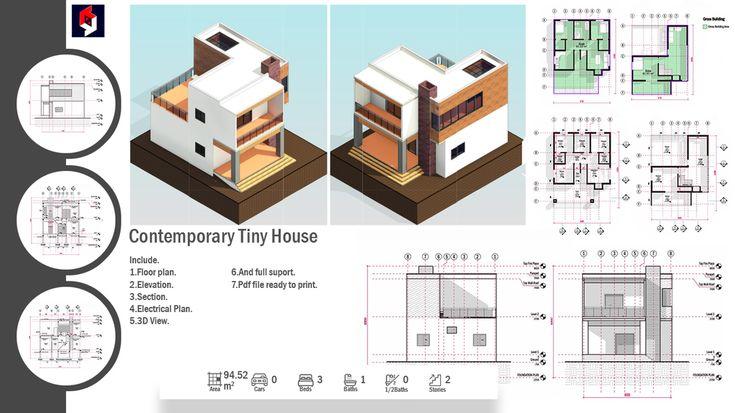 Cub3box Service Design Concept Design Design Planning Modern house plan and elevation pdf