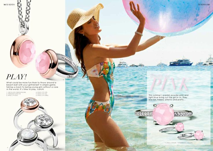 Spring / Summer 2014 Collection #Summer #Italy #Happy #Capri #TiSento #Jewellery #LaVitaAlSole #TiSentoMilano #Beach #Water #Hat #Play #Pink #Silver