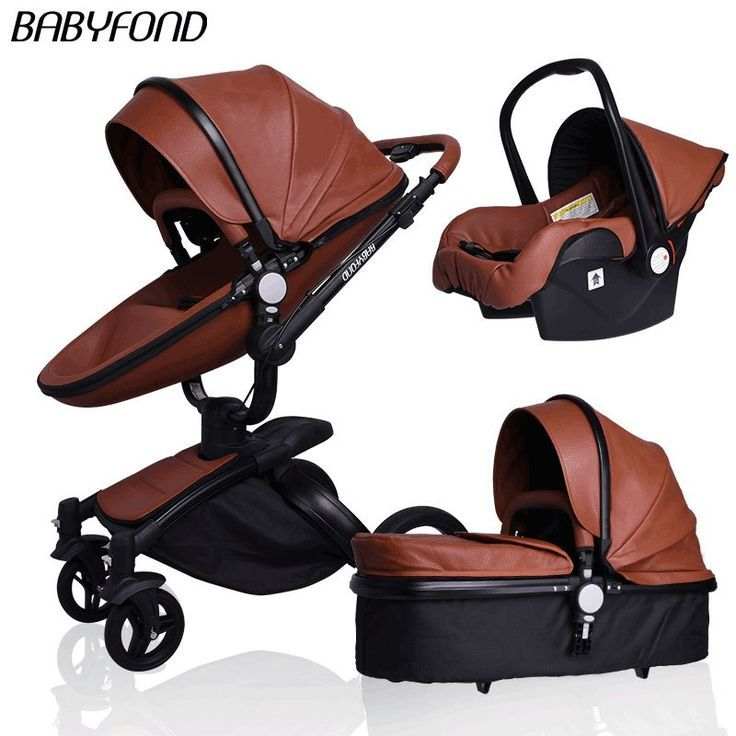 Luxury Leather Baby Stroller 3 in 1 $972.70