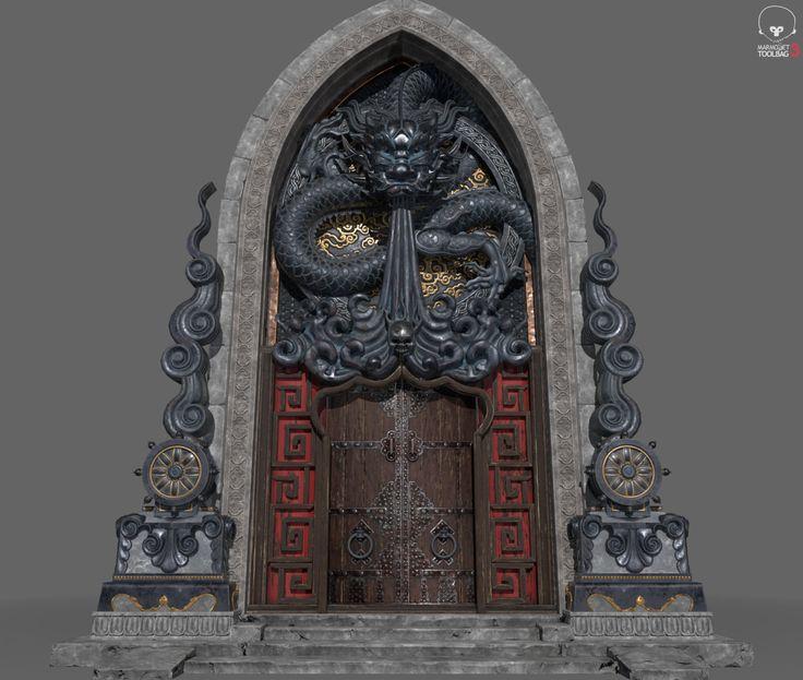 Dragone Gate, Chae Sung Lim on ArtStation at https://www.artstation.com/artwork/YxlmY