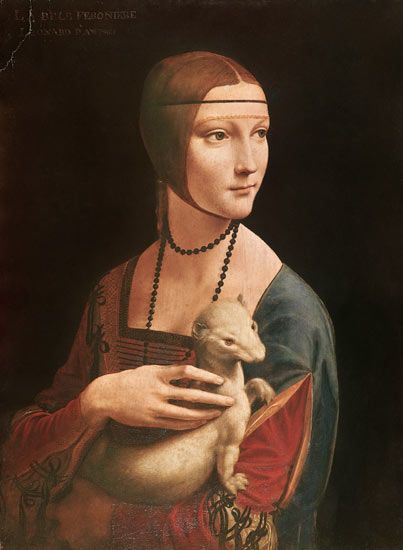 one of my favorite da Vinci painting: :Lady with and Ermine