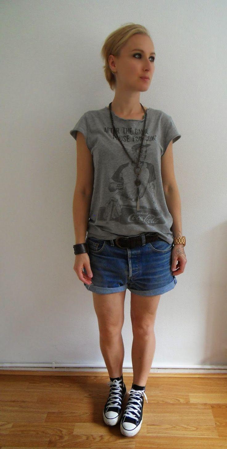 Le DIY pour les nuls : faire un tee shirt de fille avec un tee shirt de mec
