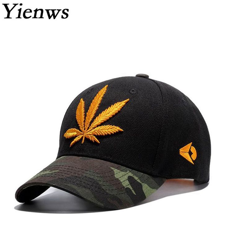 Yienws Brand Weed Embroidery Baseball Cap Hat For Men/Women //Price: $26.97 & FREE Shipping //     #weed