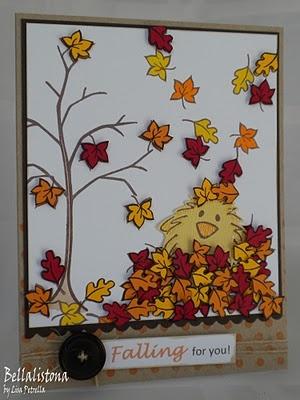 DeNami Fall Chickie card: Denami Cards, Denami Design, Sets Cards, Denami Fall, Autumn Stamps, Fall Stamps, Fall Autumn, Chicki Cards, Denami Autumn