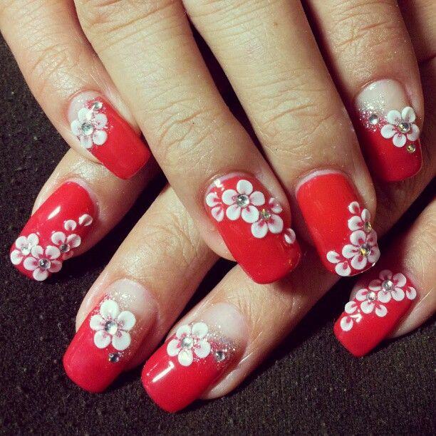3d flower nails ideas