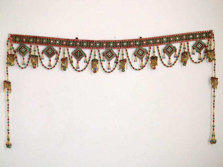 Indian Kachi Embroidery Toran Door Hanging Full Curtain