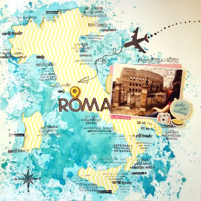 Rome,  Italy travel scrapbook layout   ScrapBolt.hu Blog