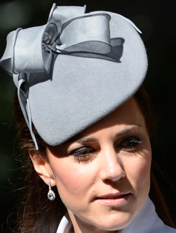 Cambridge Royal Tour-Day 12, Sydney, New South Wales, Australia, April 20, 2014-Duchess of Cambridge attended Easter morning church service at St. Andrew's Cathedral in a Jane Taylor hat
