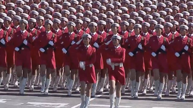 China 60th Anniversary Military Parade - Chinese Female Soldiers (HD)