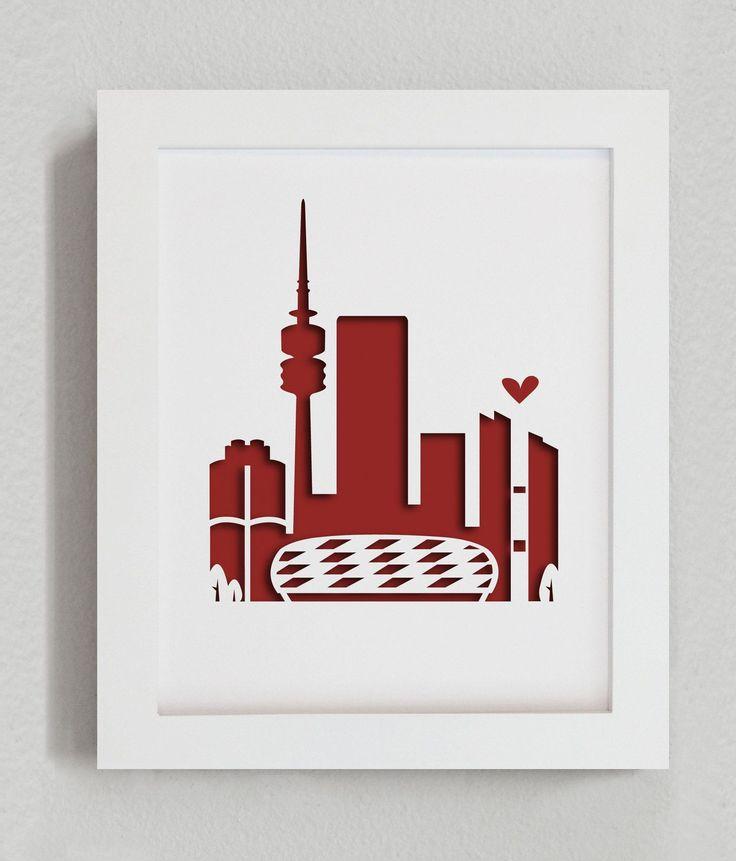 """Munich (Bayern - Allianz Arena) - 8x10"""" cut-out"""